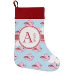 Flying Pigs Holiday Stocking w/ Name and Initial