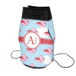 Flying Pigs Neoprene Drawstring Backpack (Personalized)