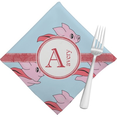 Flying Pigs Napkins (Set of 4) (Personalized)