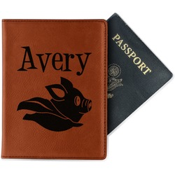 Flying Pigs Leatherette Passport Holder (Personalized)