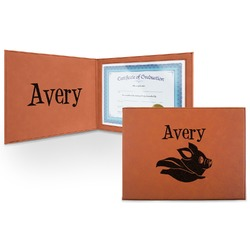 Flying Pigs Leatherette Certificate Holder (Personalized)