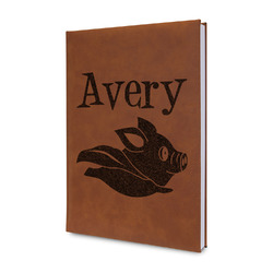 Flying Pigs Leatherette Journal (Personalized)