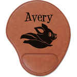 Flying Pigs Leatherette Mouse Pad with Wrist Support (Personalized)