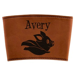 Flying Pigs Leatherette Cup Sleeve (Personalized)