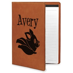 Flying Pigs Leatherette Portfolio with Notepad (Personalized)