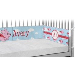 Flying Pigs Crib Bumper Pads (Personalized)