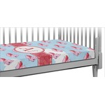 Flying Pigs Crib Fitted Sheet (Personalized)