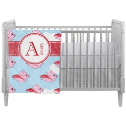 Flying Pigs Crib Comforter / Quilt (Personalized)