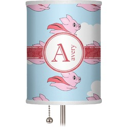 "Flying Pigs 7"" Drum Lamp Shade (Personalized)"