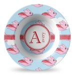Flying Pigs Plastic Bowl - Microwave Safe - Composite Polymer (Personalized)