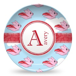 Flying Pigs Microwave Safe Plastic Plate - Composite Polymer (Personalized)