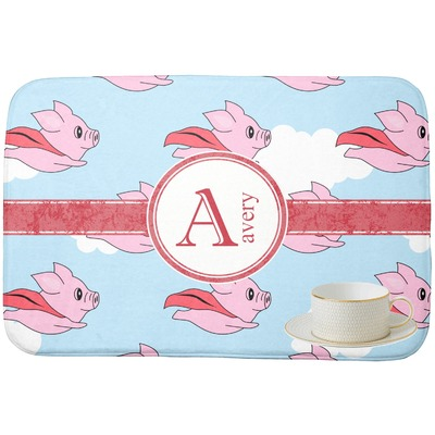 Flying Pigs Dish Drying Mat (Personalized)