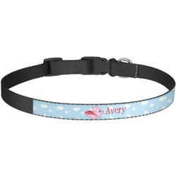 Flying Pigs Dog Collar - Large (Personalized)