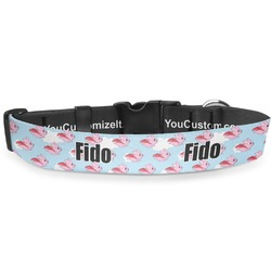 """Flying Pigs Deluxe Dog Collar - Extra Large (16"""" to 27"""") (Personalized)"""