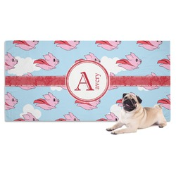 Flying Pigs Dog Towel (Personalized)