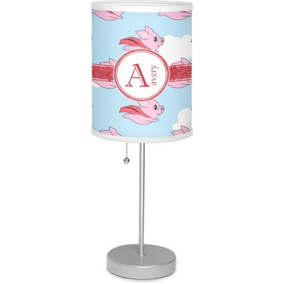 """Flying Pigs 7"""" Drum Lamp with Shade (Personalized)"""