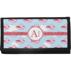 Flying Pigs Canvas Checkbook Cover (Personalized)