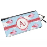 Flying Pigs Genuine Leather Eyeglass Case (Personalized)