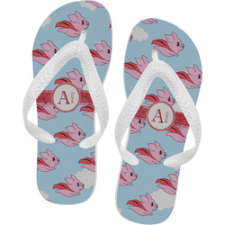 Flying Pigs Flip Flops - Large (Personalized)