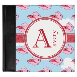 Flying Pigs Genuine Leather Baby Memory Book (Personalized)