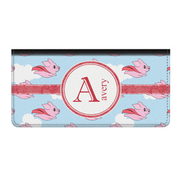 Flying Pigs Genuine Leather Checkbook Cover (Personalized)