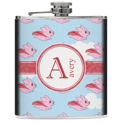 Flying Pigs Genuine Leather Flask (Personalized)