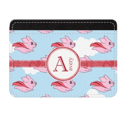 Flying Pigs Genuine Leather Front Pocket Wallet (Personalized)