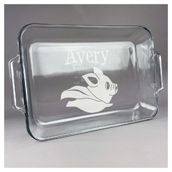 Flying Pigs Glass Baking and Cake Dish (Personalized)