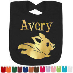 Flying Pigs Foil Toddler Bibs (Select Foil Color) (Personalized)