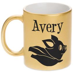 Flying Pigs Gold Mug (Personalized)