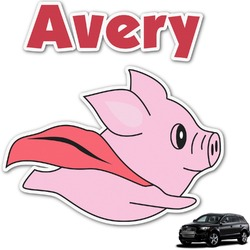 Flying Pigs Graphic Car Decal (Personalized)