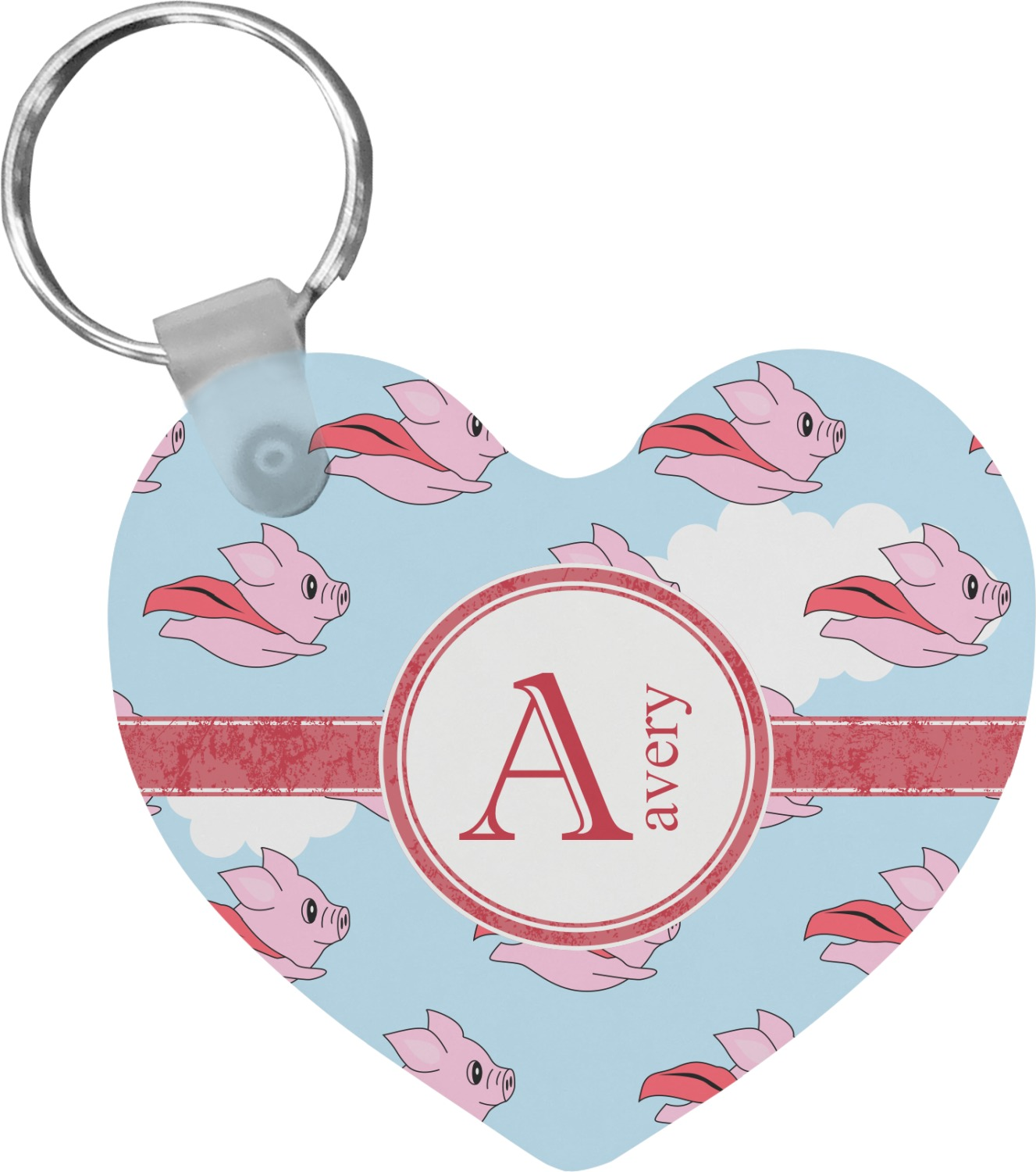 Pigs Can Fly Pewter Keyring Keychain