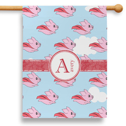 """Flying Pigs 28"""" House Flag - Double Sided (Personalized)"""
