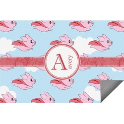Flying Pigs Indoor / Outdoor Rug (Personalized)