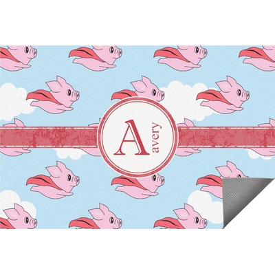 Flying Pigs Indoor / Outdoor Rug (Personalized)