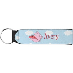 Flying Pigs Neoprene Keychain Fob (Personalized)