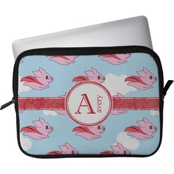 """Flying Pigs Laptop Sleeve / Case - 12"""" (Personalized)"""