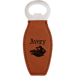 Flying Pigs Leatherette Bottle Opener (Personalized)
