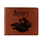 Flying Pigs Leatherette Bifold Wallet (Personalized)