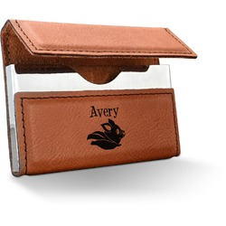 Flying Pigs Leatherette Business Card Holder (Personalized)