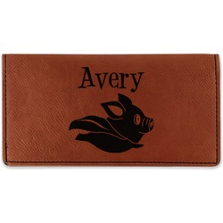 Flying Pigs Leatherette Checkbook Holder (Personalized)