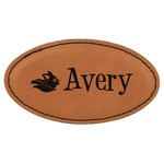 Flying Pigs Leatherette Oval Name Badge with Magnet (Personalized)