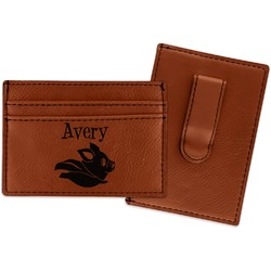 Flying Pigs Leatherette Wallet with Money Clip (Personalized)