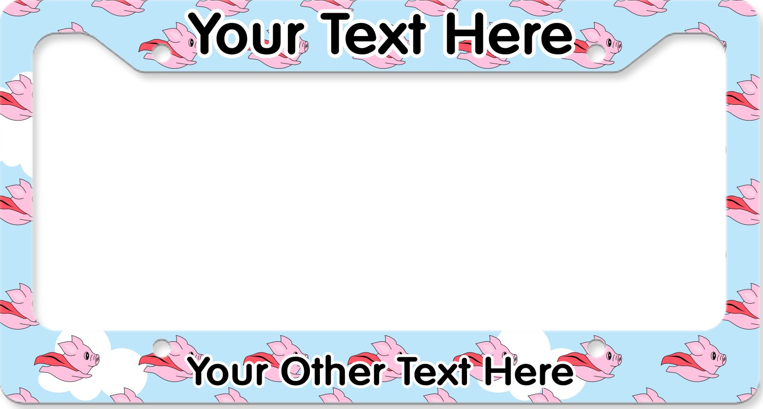 Flying Pigs License Plate Frame (Personalized) - YouCustomizeIt