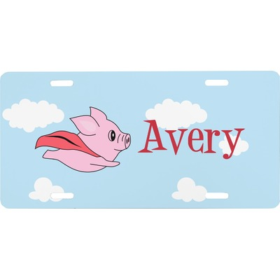 Flying Pigs Front License Plate (Personalized)