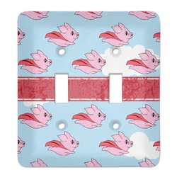 Flying Pigs Light Switch Cover (2 Toggle Plate) (Personalized)