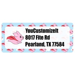 Flying Pigs Return Address Labels (Personalized)