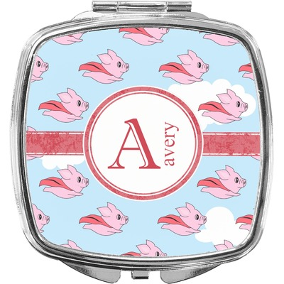 Flying Pigs Compact Makeup Mirror (Personalized)