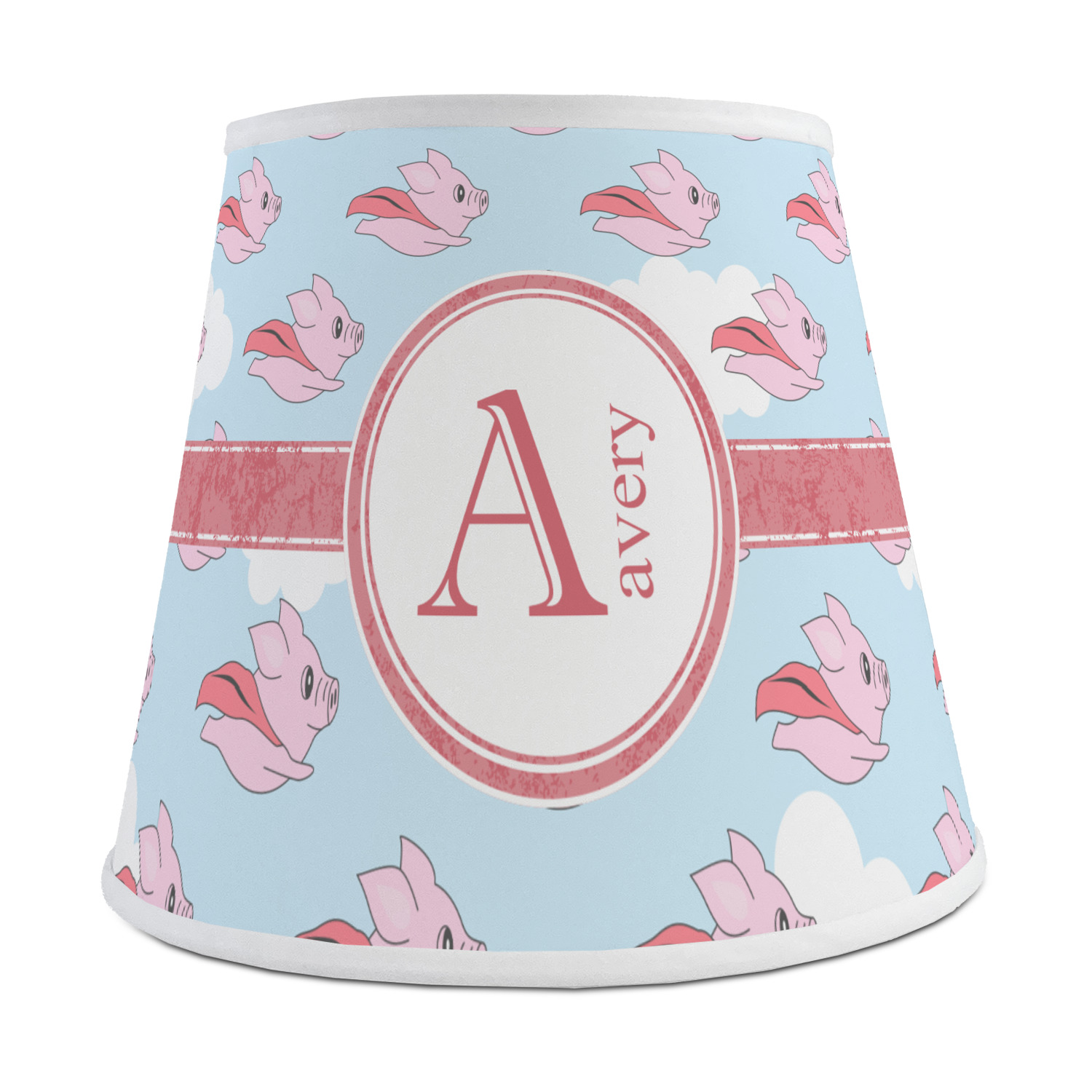 Flying Pigs Empire Lamp Shade Personalized