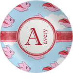 Flying Pigs Melamine Plate (Personalized)